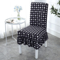 弹力椅套连体 椅子套罩家用酒店餐桌椅背现代简约欧式布艺座椅套凳子套定制