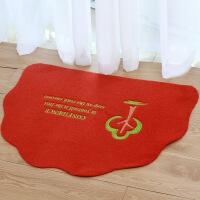 地毯客厅半圆形地垫 卫生间浴室吸水防滑垫进门入户卧室门口脚垫门垫地毯 50*70cm
