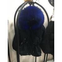 反季羽绒服收腰加厚女短款韩版大真毛领工装冬外套