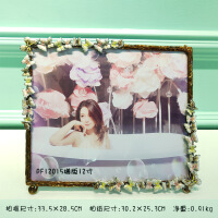 欧式创意相框摆台 复古 可爱婚纱照片定制 PF12015横版