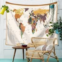地图形状挂布墙壁装饰挂毯桌布背景布拍摄沙发巾隔断挂帘