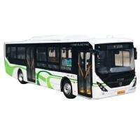 上海公交巴士55路1:64合金公交汽车模型上汽申沃汽车模型原厂新能源纯电动客车*收藏静态摆件
