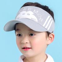 4-13岁男女宝宝薄款小孩空顶帽遮阳太阳帽潮鸭舌帽儿童夏季帽子