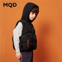 MQD童装男童保暖棉衣马甲2019冬季新款儿童连帽加厚背心男孩