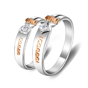 梦克拉 18K金钻石结婚戒指 诱惑之心 钻戒男戒女戒指 可礼品卡购买