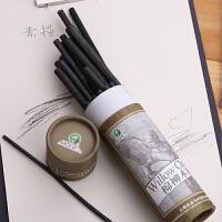 马利牌C7332-25棉柳木炭条 碳精条 木碳条 炭画笔(5-7mm)素描炭笔
