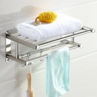 卫生间毛巾架不锈钢浴室置物架免打孔双层2层小尺寸35CM壁挂件