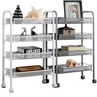 厨房置物架储物卧室落地多层收纳架家用可移动小推车阳台杂物架子