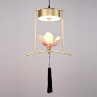 新中式小吊灯床头创意餐厅咖啡厅吧台单头吊灯禅意简约玄关过道灯
