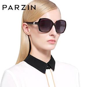 帕森时尚复古偏光太阳镜 女士 优雅珍珠大框修脸墨镜 驾驶镜9223