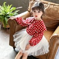 2019春装新款儿童韩版洋气长袖上衣3-7岁宝宝衣服女童娃娃衫衬衫