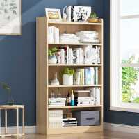 书架置物架简约落地组合简易桌上学生实木客厅家用儿童小书柜收纳
