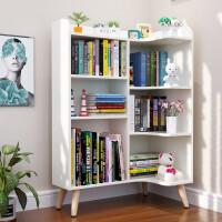 简易儿童小书架客厅转角书柜落地家用置物架办公室简约收纳省空间