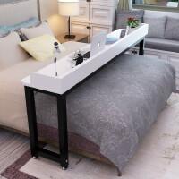 圆角笔记本电脑桌床边桌床上书桌跨床桌学习桌可移动懒人桌