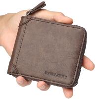 男士钱包短款拉链驾驶证零钱包卡包男式学生皮夹钱夹
