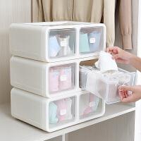内衣收纳盒抽屉式分格衣柜装内裤袜子文胸盒家用收纳箱盒塑料整理箱