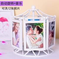 创意DIY手工定制照片相册相框摆台婚纱照结婚纪念日生日礼物女生