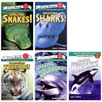 顺丰发货 I Can Read Level 2 国际野生生物保护学会推荐 自然科学6本套装 Tigers Whales