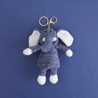 条纹小猪毛绒公仔玩偶挂件钥匙扣女可爱创意书包包挂饰品