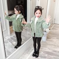 女童韩版小女孩外衣儿童女童冬装2019新款洋气女孩时尚外套