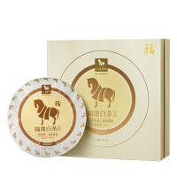 八马茶叶 福鼎白茶白牡丹3年窖藏白茶饼茶礼盒装357g