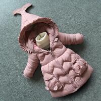 童装女童棉衣2018新款冬装加厚棉袄洋气衣服外套中小童宝宝儿童装