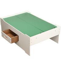 【益智玩具】儿童大号游戏桌带抽屉宝宝木质托马斯轨道积木多功能玩具桌子 桌子