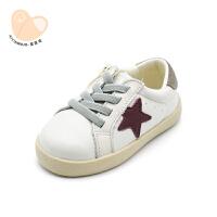 儿童宝宝软底学步鞋1-3岁宝宝鞋子小白鞋幼儿板鞋