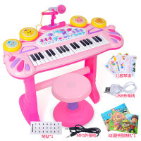 儿童电子琴玩具初学者钢琴3岁女孩宝宝音乐玩具话筒萌鸡小队