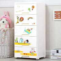 新品加厚特大号卡通收纳箱塑料衣物抽屉式收纳柜玩具收纳盒整理储物柜