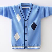 男孩休闲上衣中大童线衣潮男童秋季新款开衫外套儿童针织衫毛衣