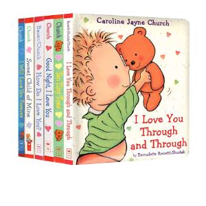 爱的晚安故事 英文原版绘本3 6岁 I Love You Through And Through 卡洛琳杰恩 纸板书6本套装 Caroline Jayne Church