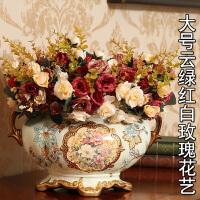 欧式复古装饰品摆件陶瓷花盆花艺花器餐桌花瓶客厅摆设工艺品创意