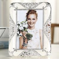 轻奢欧式相框摆台7寸8寸10寸创意小奢华婚纱照卧室照片框桌面摆件 王妃白 10寸