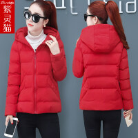 冬季外套女短款2018新款韩版宽松bf小棉袄学生棉衣面包服 GXB 6616 大红色