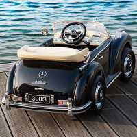 奔驰老爷车儿童电动车四轮超大带遥控宝宝玩具小孩4轮汽车可坐人