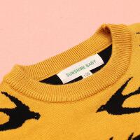 男童毛衣套头圆领加厚男女童针织衫中大童宝宝秋冬打底衫