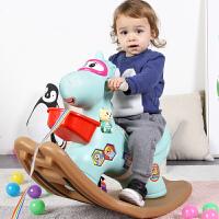 宝宝摇摇马塑料婴儿1-2周岁带音乐马车儿童木马摇马玩具