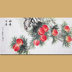 天津美协会员 小写意花鸟名家耿天宅先生作品――福寿康宁