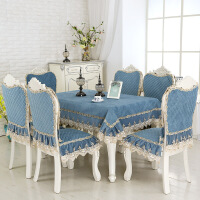 欧式餐桌垫套装座椅套罩餐椅垫布艺坐垫防滑板凳套家用椅子垫座垫