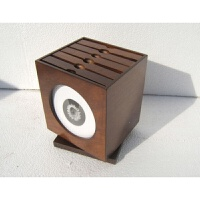 201907020202244222019新品新品欧式木制旋转CD盒/木质cd盒/CD收纳盒/CD架/光盘盒cd包 深
