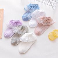儿童袜子春秋薄款女童公主蕾丝花边袜子宝宝薄款网眼袜