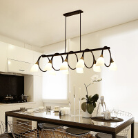 北欧风格饭厅家用餐桌三头灯客厅现代简约美式创意LED餐厅吊灯具