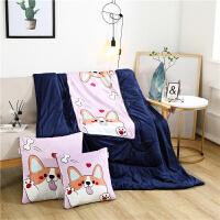 可爱加绒加厚汽车抱枕被子两用冬季靠垫毯子被空调珊瑚绒午睡枕头