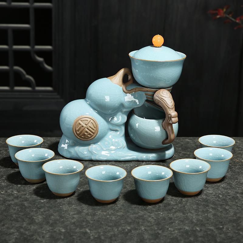 紫砂茶具套装家用简约懒人泡茶壶半全自动陶瓷功夫茶杯冲茶器礼盒