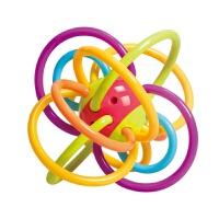 牙胶摇铃玩具婴幼儿0-3-6-12个月曼哈顿球婴儿宝宝磨牙棒手 曼哈顿球(颜色随机搭)