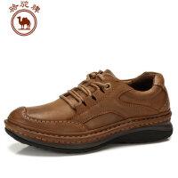 骆驼牌男鞋秋冬新款男士日常休闲鞋子真牛皮鞋舒适耐磨