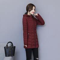 棉衣女士中长款冬装2018新款韩版修身40-50岁中老年轻薄妈妈棉袄