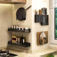厨房置物架免打孔壁挂式家用调味料用品大全刀架挂架厨具收纳神器