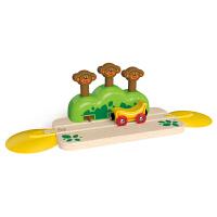 Hape火车轨道―欢乐蹦蹦猴1-3岁儿童模型玩具